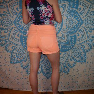 NWT Neon Bright Shorts Jeans Jean Salmon Pink
